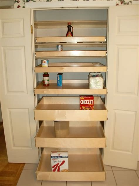 closet walk in pantry roll out shelves pantry cabinets