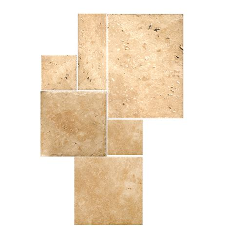 shop emser 6 pack bruno travertine thinset mortar floor
