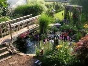 Back Yard Pond with Bridge