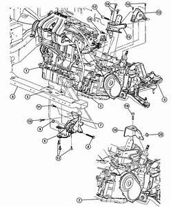 2002 Chrysler Voyager Support  Transmission  Engine  Mounts  Edz