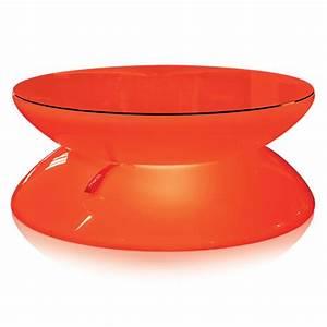Plateau Rond Pour Table : plateau verre rond table lumineuse design ~ Teatrodelosmanantiales.com Idées de Décoration