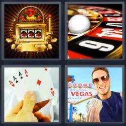 4 Fotos 1 Palabra Casino, Ruleta, Cartas, Tragamonedas, Hombre