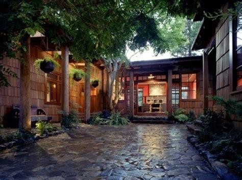 architecture courtyard design trees natural nature stone exteriors zen asian plants home design