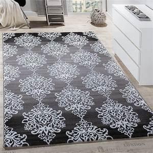 Wohnzimmer Teppich Grau : teppich wohnzimmer floral muster abstrakt grau design teppiche ~ Whattoseeinmadrid.com Haus und Dekorationen