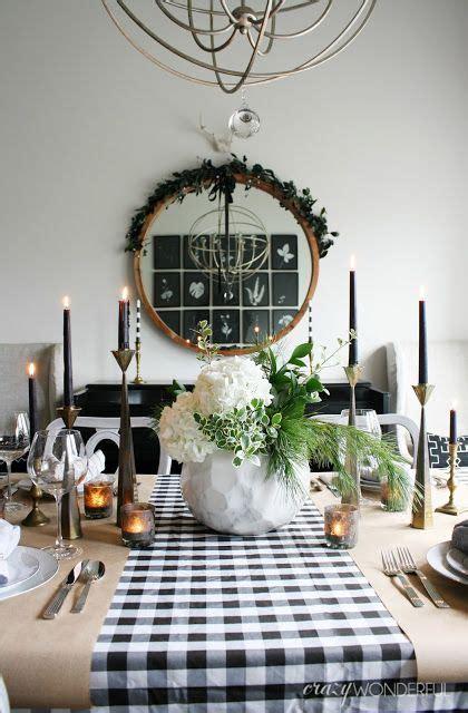 crazy wonderful christmas home  christmas table ideas modern tablescape dining room