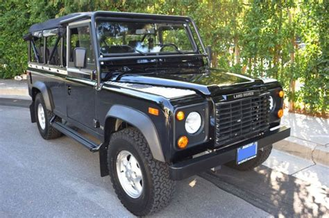 land rover defender convertible find used 1997 land rover defender 110 convertible in los