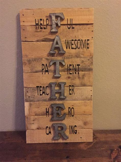 father sign fathers day sign wall sign pallet sign