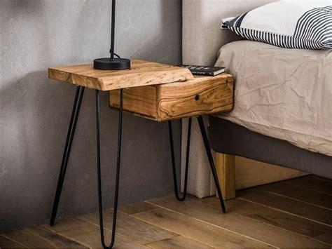 Chevet Pasaku 2 en bois massif. Meuble pour le salon. Lotuséa