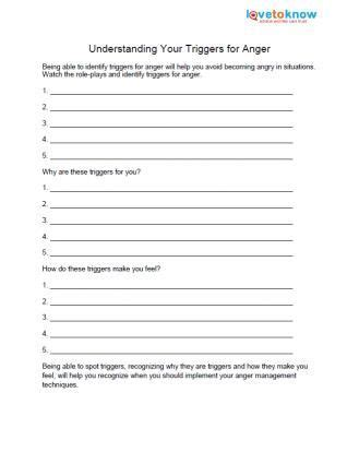 free anger worksheets therapy counselling and anger management