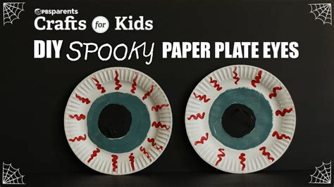 Spooky Paper Plate Eyes