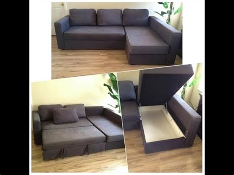 ikea friheten sofa bed sectional with storage youtube