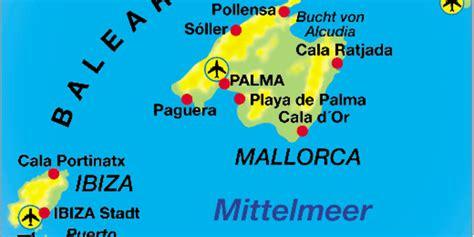 karte von balearen region  spanien welt atlasde