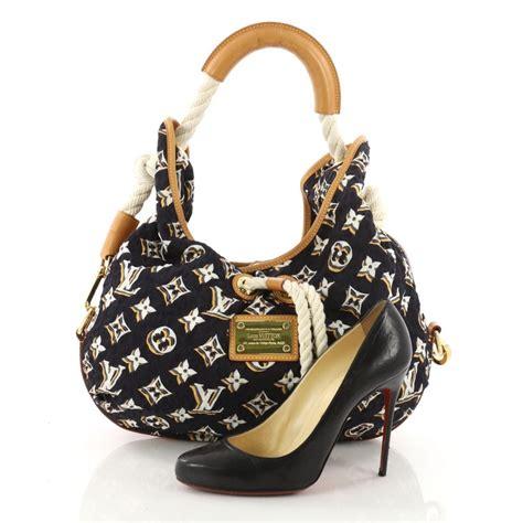 louis vuitton bulles handbag monogram nylon mm  stdibs