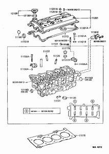 Toyota Paseo Engine Cylinder Head Gasket  Components