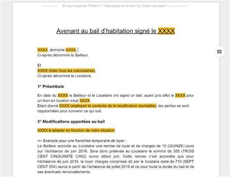 bail bureaux mod e modele lettre resiliation bail garage par proprietaire
