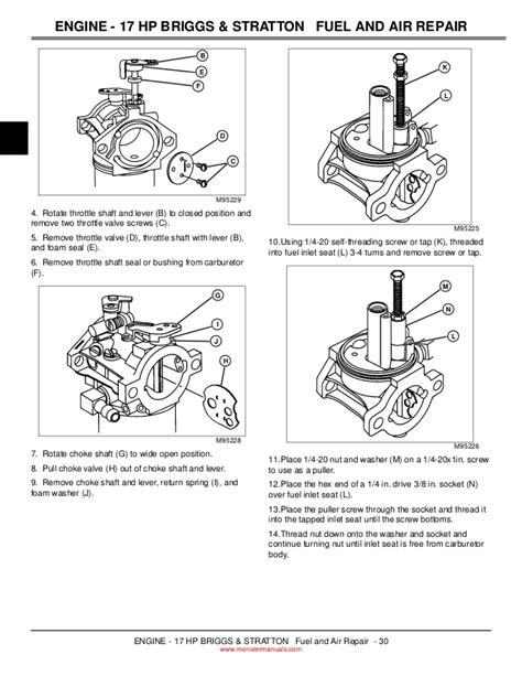john deere  lawn garden tractor service repair manual