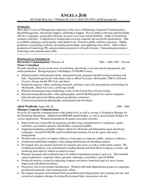 Marketing Skills Summary Resume by Doc 8001035 Exle Resume Marketing Manager Resume