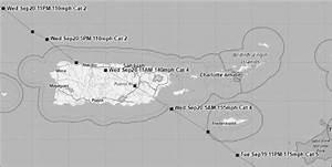 Map Showing The Track Of Hurricane Mar U00eda  Noaa 2017