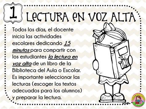 excelentes 5 actividades permanentes de lectura en el aula material educativo