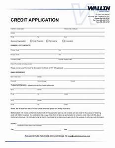 consumer credit application form free printable With consumer credit application form template