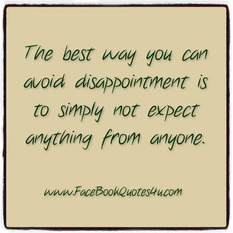 Quotes About Disappointing Someone
