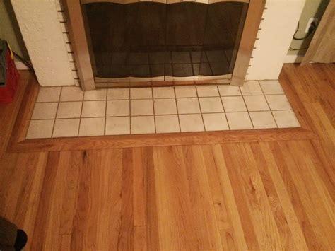 fireplace  hardwood floor transition google search