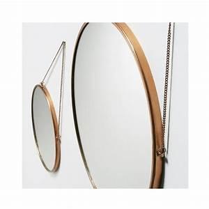 Miroir Rond Cuivre : miroirs ronds x2 en m tal dor icon par ~ Edinachiropracticcenter.com Idées de Décoration
