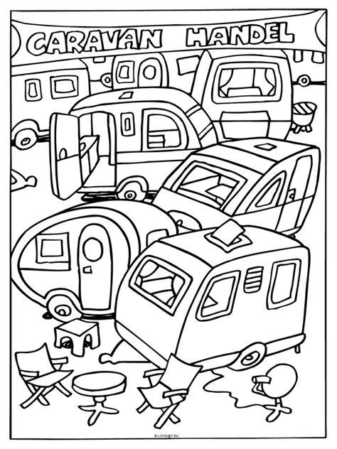 Caravan Kleurplaat by Kleurplaat Caravan Handel Kleurplaten Nl