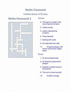 20 Easy and Interactive Math Crossword Puzzles   Kitty ...