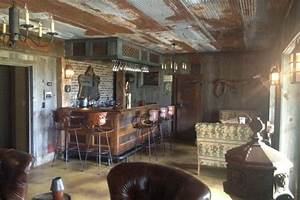 DIY Bar Made From Old Barn Scraps Is The Ultimate Man Cave
