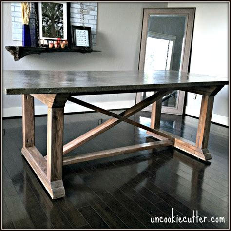 concrete top outdoor dining table concrete dining table diy for less uncookie cutter