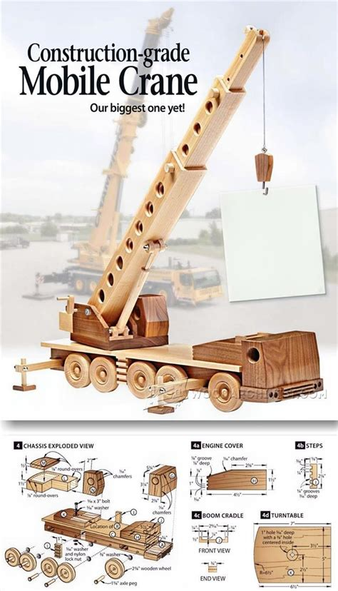 wooden mibile crane childrens wooden toy plans