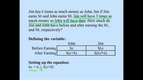 college algebra word problem  youtube