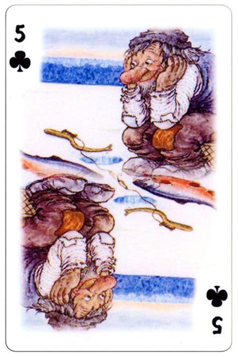 clubs trolls cartoons playing cards  rolf lidberg