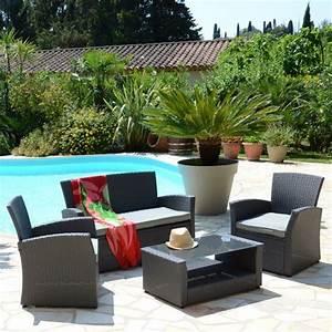 Salon De Jardin Ibiza. salon de jardin ibiza blanc anthracite 4 ...