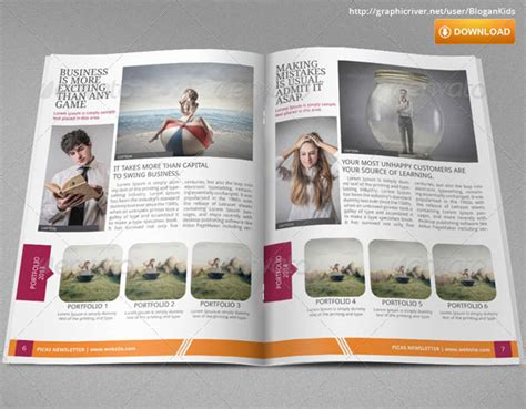picas business newsletter  blogankids graphicriver