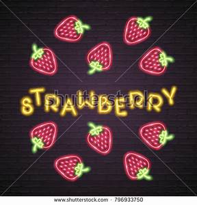 Fruit Neon Stock Royalty Free & Vectors