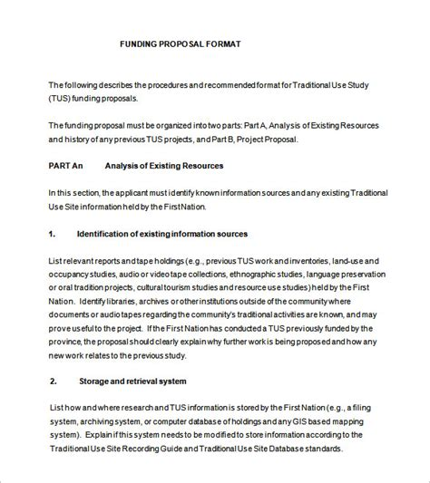 proposal templates   word  format