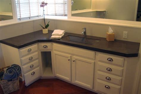 L Shaped Bathroom Vanity by More Concrete Countertop Photos By Arizona Falls Las Vegas