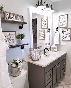 farmhouse bathroom by blessed ranch farmhouse decor With kitchen colors with white cabinets with rustic bathroom wall art