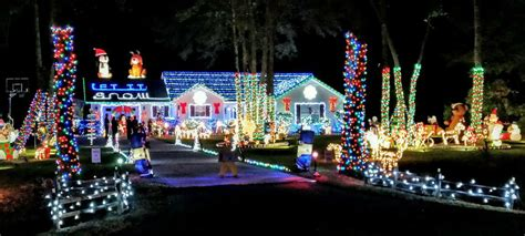 lady s island christmas light display out of this world
