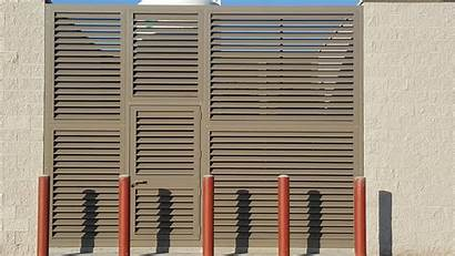 Louvered Panels Divide Protect