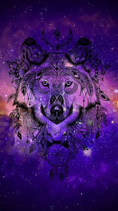 Wolf Galaxy Wallpapers Spirit Animal Anime Backgrounds