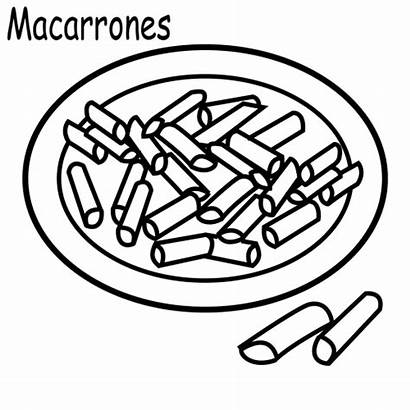Macaroni Cheese Pages Coloring Colouring Para Macarrones