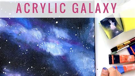 acryl galaxie auf leinwand malen mit acryl youtube
