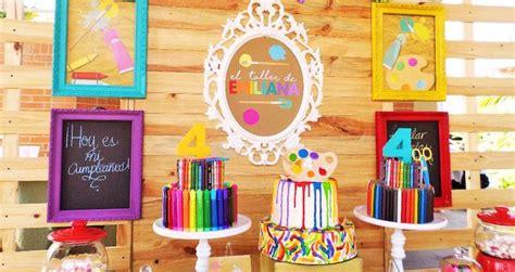karas party ideas colorful art studio birthday party