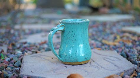 All polish stoneware is microwave, dishwasher, freezer and oven safe up to 480°f. Morenci Turquoise Pottery Mug - Rose LeVeque Pottery