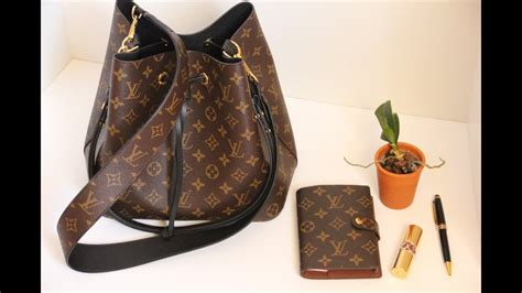 chatty unboxing   louis vuitton neo noe bag  bandouliere monogram strap youtube