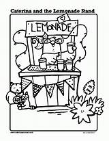 Lemonade Coloring Stand Pages Caterina Printables Sheets Drawing Summer Printable Sheet Stands Activities Cupcake Classroom Mouth Pitcher Books Themes Template sketch template