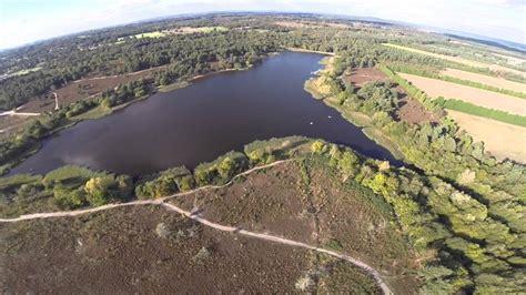 frensham  pond drone aerial gopro footage youtube